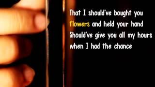When i was your man - Bruno Mars - Karaoke Acoustic guitar