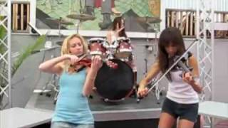 Rock violin girls