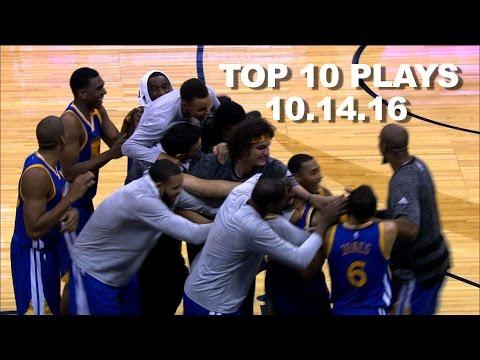 Top 10 NBA Plays: October 14th