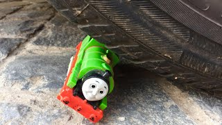 CARELESS DAD Crushes Percy The Toy Train, Thomas and Friends Accidents Will Happen