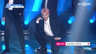 [HD FANCAM] PRODUCE 101 TEAM 2 - SUPER JUNIOR 'SORRY SORRY' KANG DANIEL FOCUS