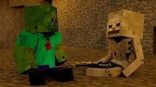 SkeleGUN & ZOMBIE - Minecraft Animation