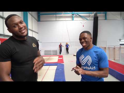 EPISODE 3: Professional boxer Viddal Riley introduced to tumbling!!