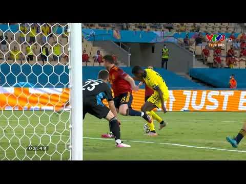 Euro 2020 | Tây Ban Nha vs Thụy Điển | Alexander Isak dứt điểm dội cột dọc (41')