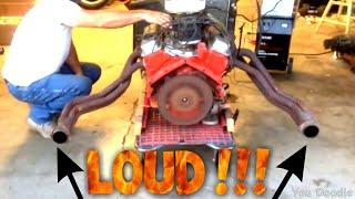 Starting motor on homemade engine stand - L98 corvette motor