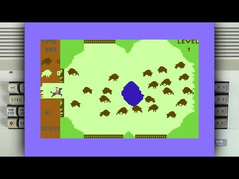 Buffalo Roundup on the Commodore 64