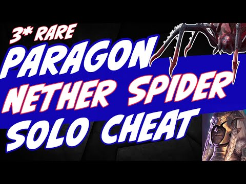 3* Paragon can solo Nether Spider HARD any floor. Raid Shadow Legends
