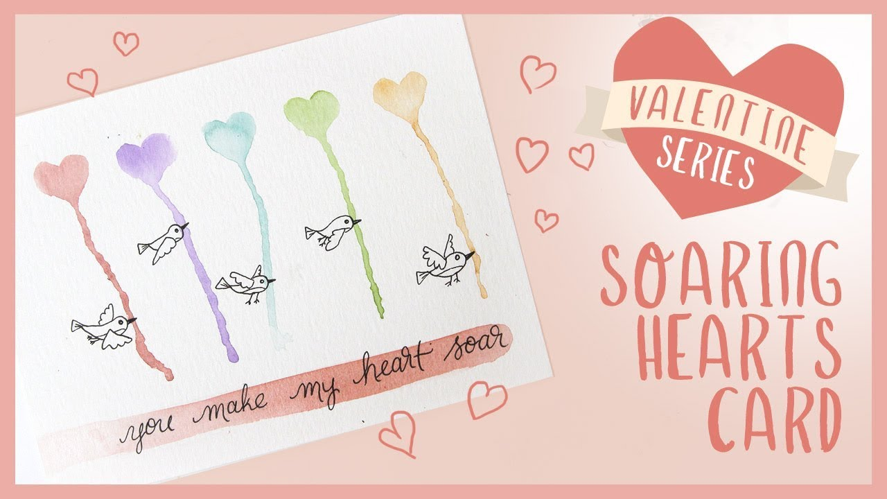EASY Watercolor Heart Valentine's Day Card | 2019 Valentine Series