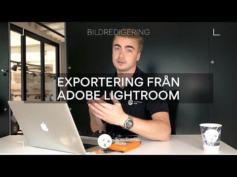 Exportera dina bilder med Adobe Lightroom