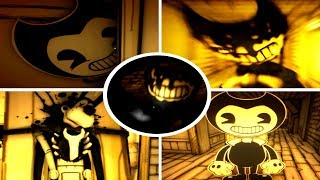 All Jumpscares & Deaths: Bendy and the Ink Machine (Chapter 1)