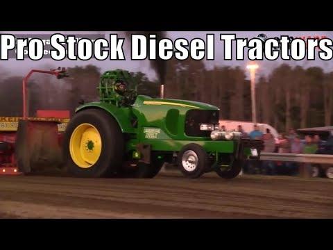 Pro Stock Diesel Tractors Class At TTPA Tractor Pulls In Port Hope MI 2018