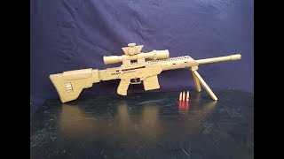 How To Make Cardboard Sniper That Sh00ts - With Magazine ||