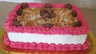 Bolo com Recheio de Bombom para Aniversários e festas   Bolo para 30 pessoas