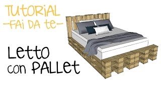 Come costruire un letto con i pallet! Video tutorial fai da te pallet