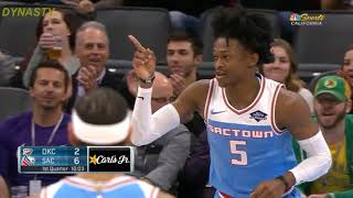 De'Aaron Fox Fools Russell Westbrook With A Beautiful Move -Thunder vs Kings