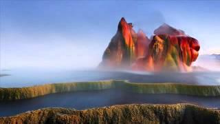 Fly Geyser in black rock desert, USA