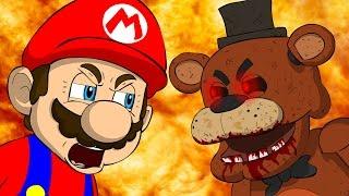 MARIO VS FREDDY - Five Nights At Freddy's Animation Parody