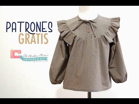 Patrones GRATIS: Camisa vichy para niños con canesú (tallas 2 a 12 años)