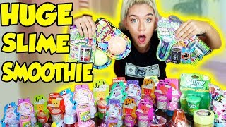 MIXING ALL MY STORE BOUGHT SLIMES!! GIANT SLIME SMOOTHIE! SATISFYING SLIME   NICOLE SKYES