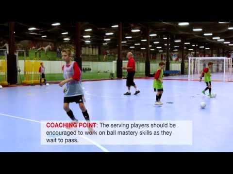 NSCAA Futsal Level 1 Activity: 2v1 plus Keeper in Traffic