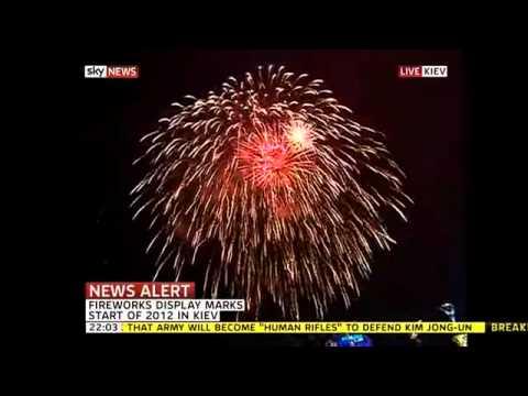 Kyiv Ukraine Fireworks New year 2012 Новый год 2012 (www.ukrainetur.com)