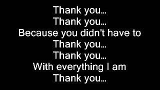 Celine Dion - Thank you (lyrics)