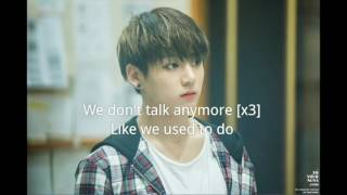 [Karaoke] Jungkook-We don't talk anymore