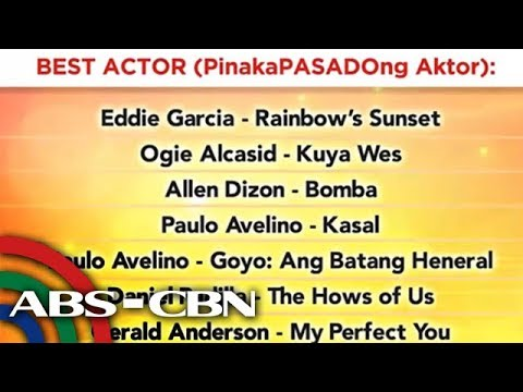 ABS-CBN stars at movies, nominado sa 2019 Gawad Pasado Awards