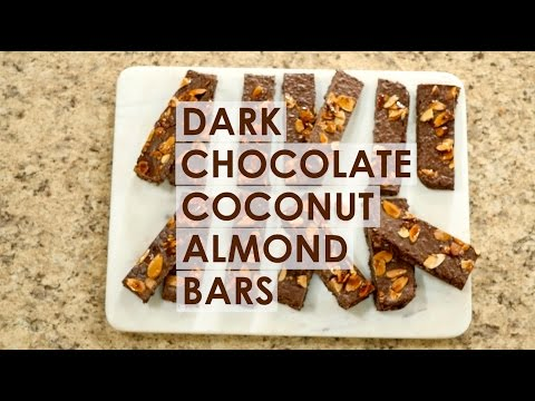 Dark Chocolate Coconut Almond Bars