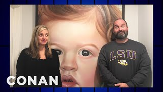 Tom Segura Accidentally Commissioned A 6-Foot Tall Painting Of His Son  - CONAN on TBS