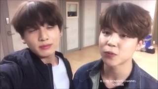 BTS JIMIN AND JUNGKOOK twitter update 03312016 SING LIVE