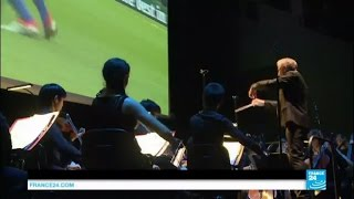 An unlikely marriage at EURO 2016? Paris philharmonic orchestra interprets live Croatia-Spain game