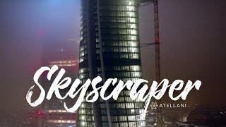 DJI Inspire 2 - CityLife Milan Italy February 2017 At Night