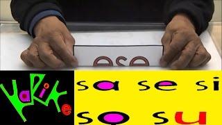 Tutorial: Aprendiendo la sílabas  sa se si so su (Ejercicio 18) Cómo enseñar a leer a un niño