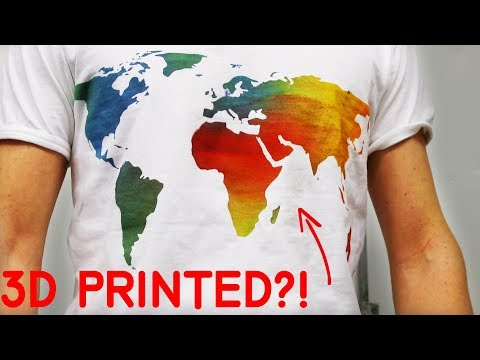 NEW Crazy 3D Printing T-shirt Stencils!
