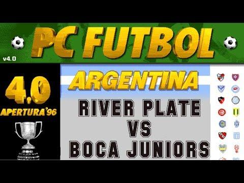 PC Fútbol 4.0 Apertura '96 (1996) - PC - River Plate vs Boca Juniors