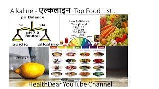 Alkaline food list - High Alkaline food in Hindi