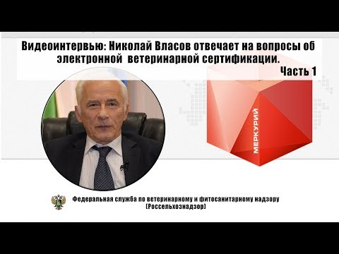 Николай Власов отвечает на вопросы об электронной ветеринарной сертификации.