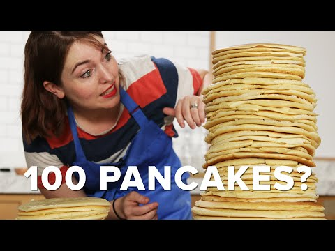 """Can You Stack 100 Pancakes"""" ? Tasty"""