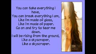 Skyscraper, Demi Lovato - Lyrics