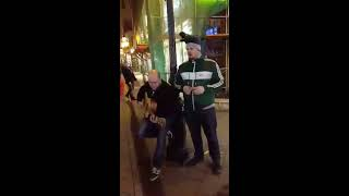 Irish stag party busking in Budapest