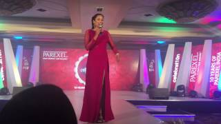 Anchor, TV show host,Compere, Corporate presenter, Emcee Reena Dsouza compering for Parexel India