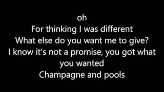 Hoodie Allen   Champagne and Pools (Feat. blackbear & KYLE) Lyric's