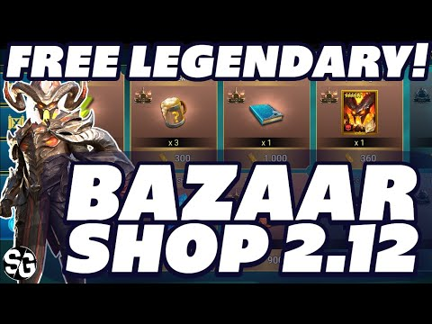 FREE LEGENDARY UPDATE 2.12 BAZAAR CHAMPION ADDED RAID SHADOW LEGENDS