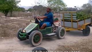 Kart cross trabalho no campo