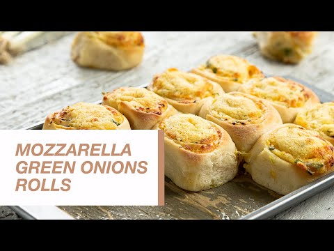 Mozzarella Green Onions Rolls | Food Channel L Recipes