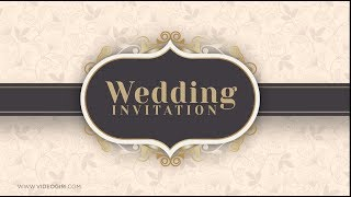 Simple and Sober Wedding Invitation Video | VG-767