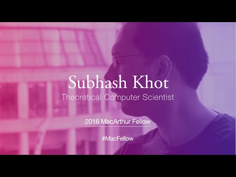 Theoretical Computer Scientist Subhash Khot | 2016 MacArthur Fellow