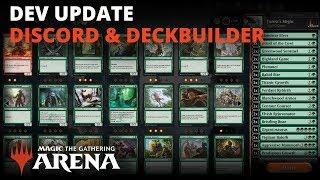 MTG Arena Developer Update: Discord & Deckbuilder