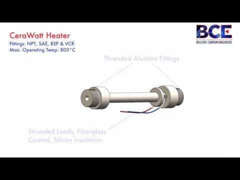 BCE CeraWatt Electric Ceramic Heating Element
